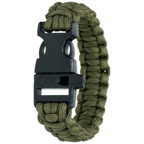 Highlander Paracord Bracelet with Whistle Olive