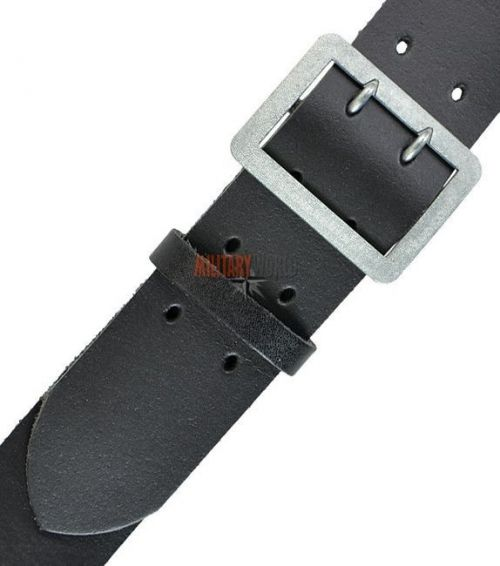 Mil-Tec Leather Police Belt Black