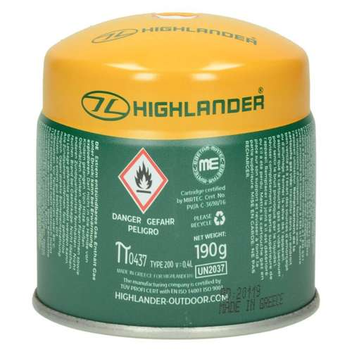 Highlander Cartouche GAS021 for Tourist Cookers
