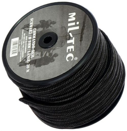 Mil-Tec Universal Rope Survival 30m/9mm Black  [a roll]
