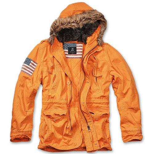 Brandit Explorer Stars & Stripes Winter Jacket Orange