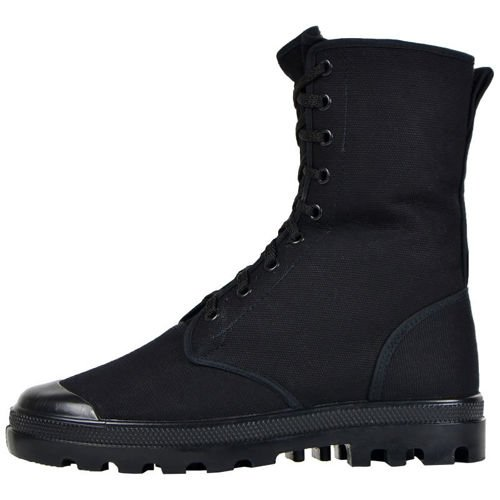 Mil-Tec High Canvas Trainers Boots Black
