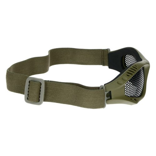 Mil-Tec Protective Goggles with Steel Net Olive
