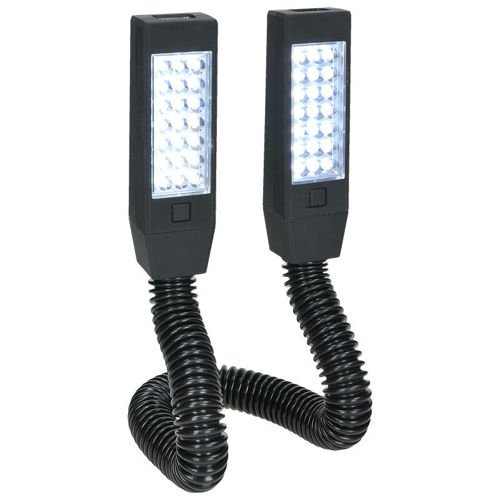 Highlander Twin End Torch 42 + 12 LED Black