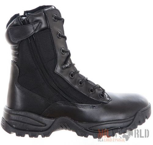 Mil-Tec Tactical Leather Boots Two Zippers Black