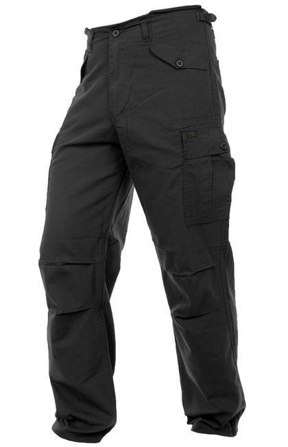 467f7c32d6 Highlander Trousers M65 Rip-Stop Black   Milworld