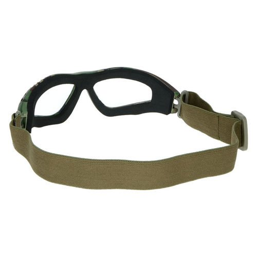 Mil-Tec Protective Goggles Clear Woodland