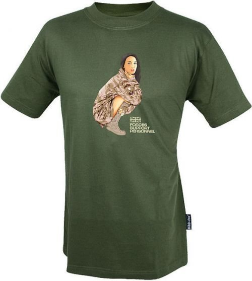 Web-Tex Koszulka T-Shirt Two Squadron Girl Oliv