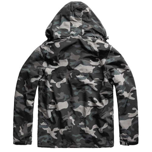 Surplus Kurtka Zipper Windbreaker Black Camo
