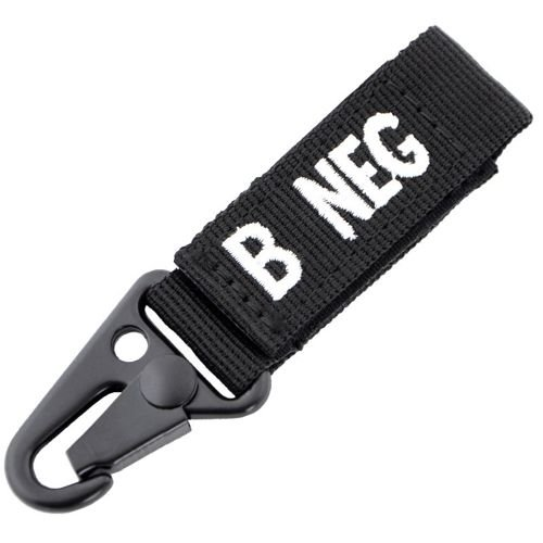 Condor Keychain Blood Type B RH- Black