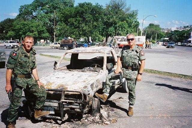 Brig. Gen. Petelicki (right) during Operation Uphold Democracy in Haiti