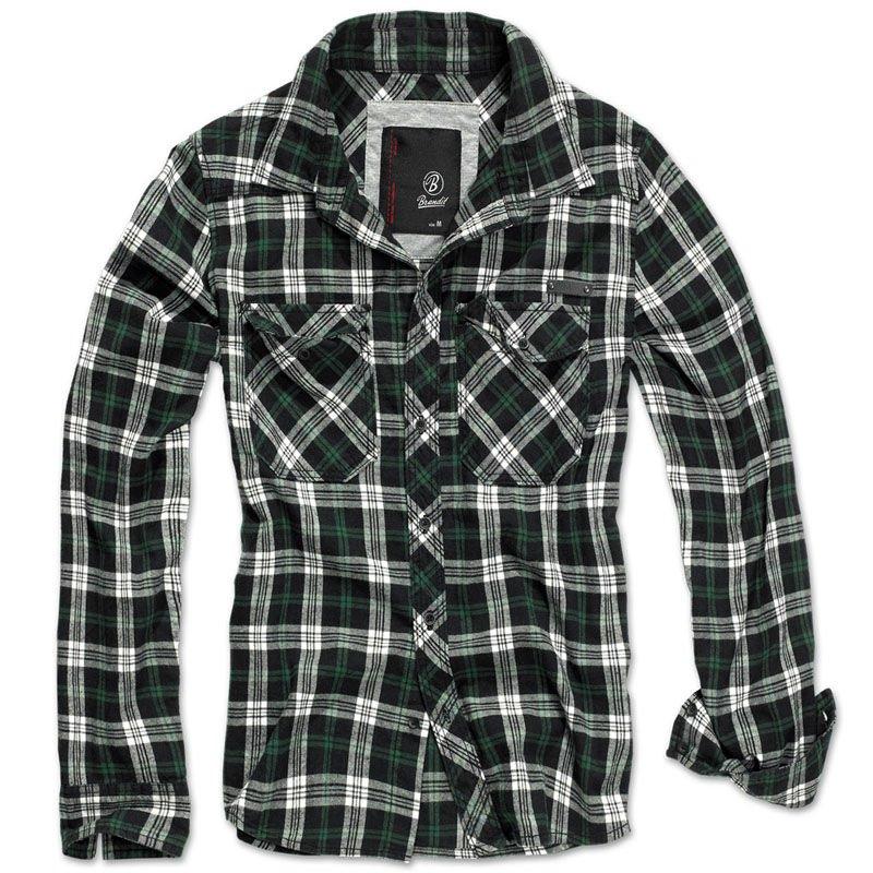 Brandit Check Shirt Black Green  74c1090a8e