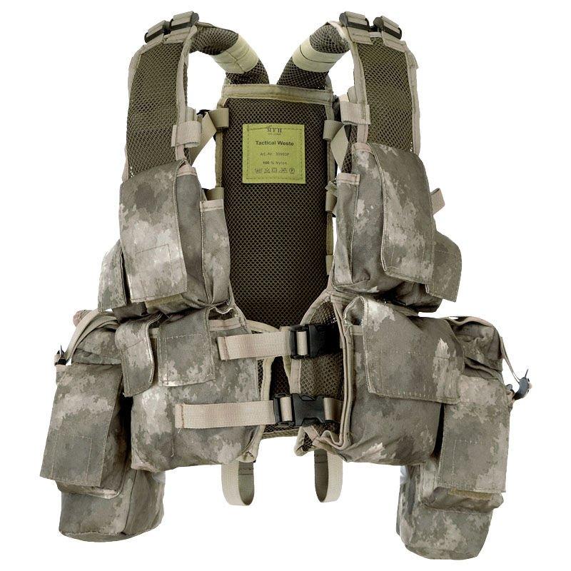 Bekleidung & Schutzausrüstung Funsport US Tactical Combat Weste Molle light HDT camouflage FG Vest