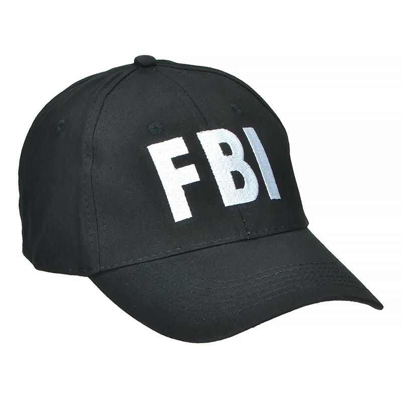 ... Mil-Tec FBI Baseball Cap Black 3f6bb80f5a3