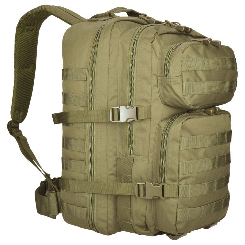 cbb3c84f3a4 Mil-Tec MOLLE Tactical Backpack US Assault Large Coyote   Milworld