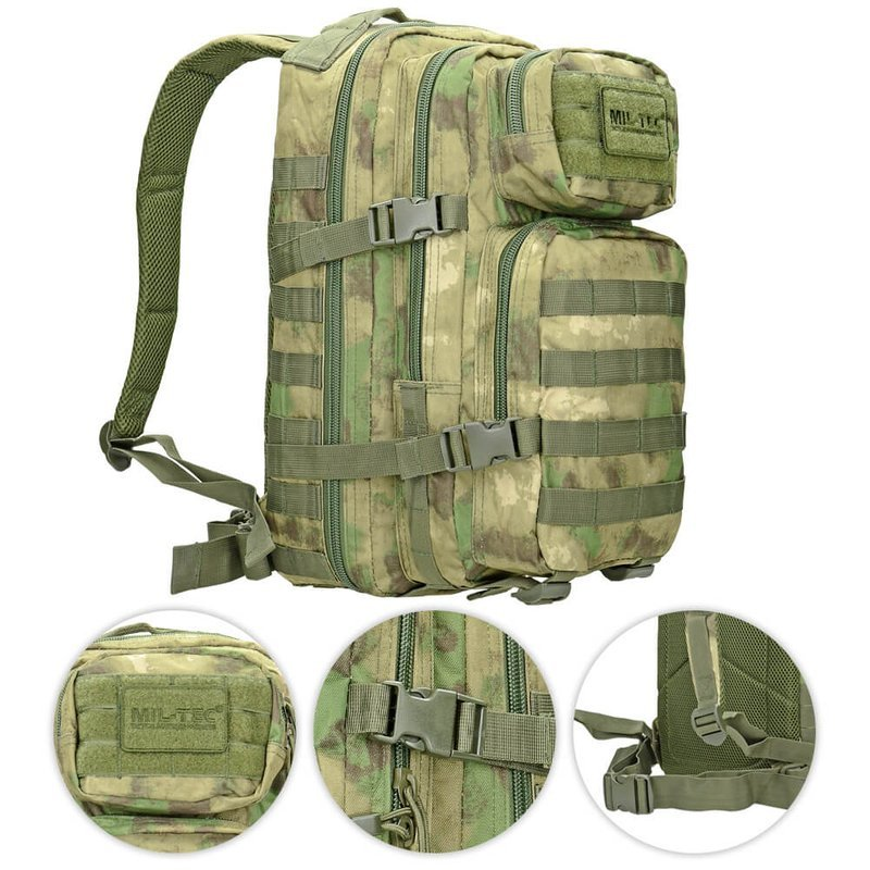 65216f1b1ad1a WOODLAND CAMO Molle RUCKSACK Assault Small 20L BACKPACK Tactical Army Day  Pack Camping   Outdoor Trekkingrucksäcke