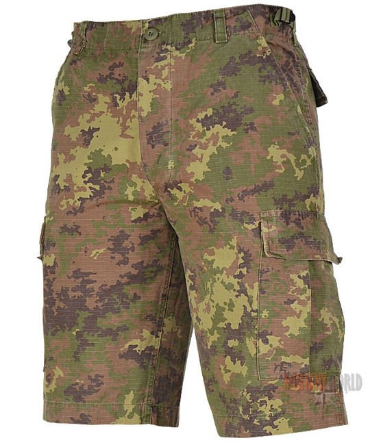 28b3b7fde8f7d2 Mil-Tec Rip-Stop Bermuda Shorts Vegetato Woodland | Milworld