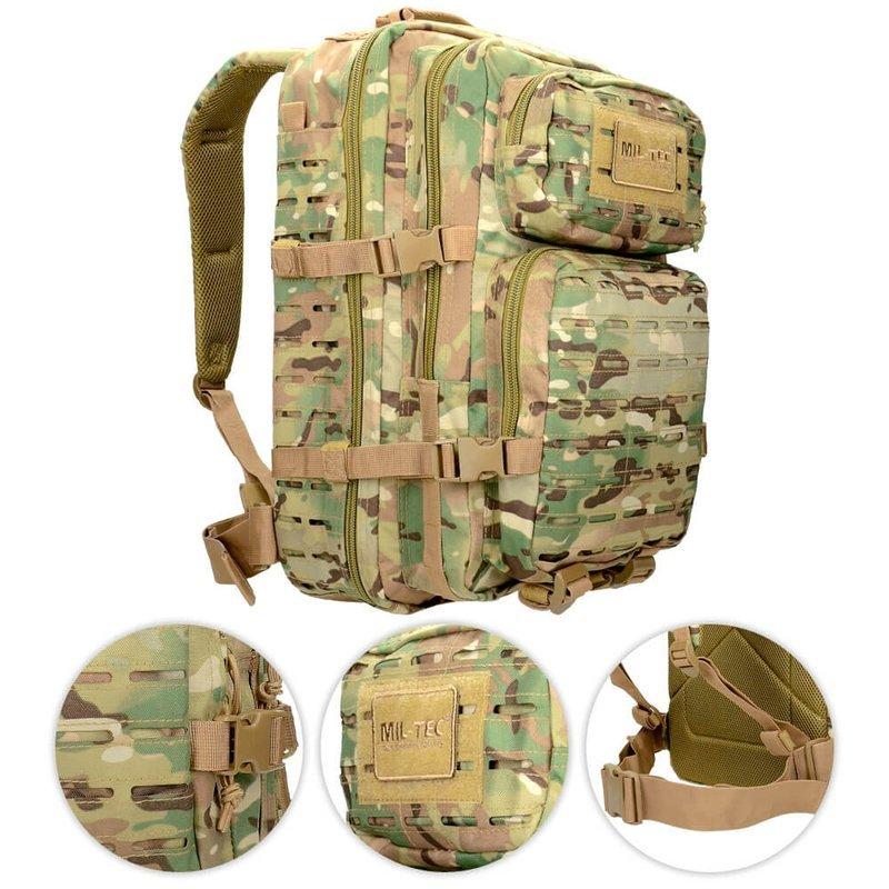 895e38263f5 Mil-Tec Tactical Laser Cut Backpack 36L Multitarn Black   Milworld