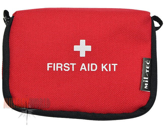 miltec tourist first aid kit small red