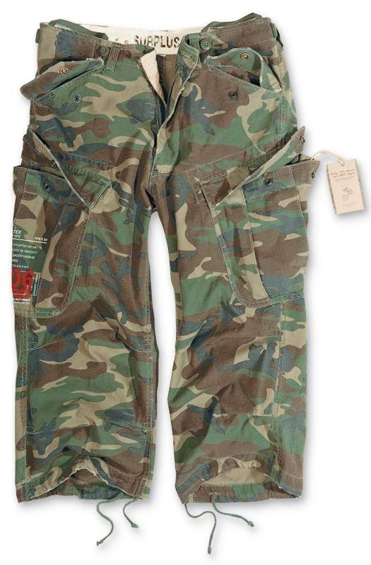 e31b0034fa Surplus Shorts 3/4 M65 Engineer Woodland   Milworld