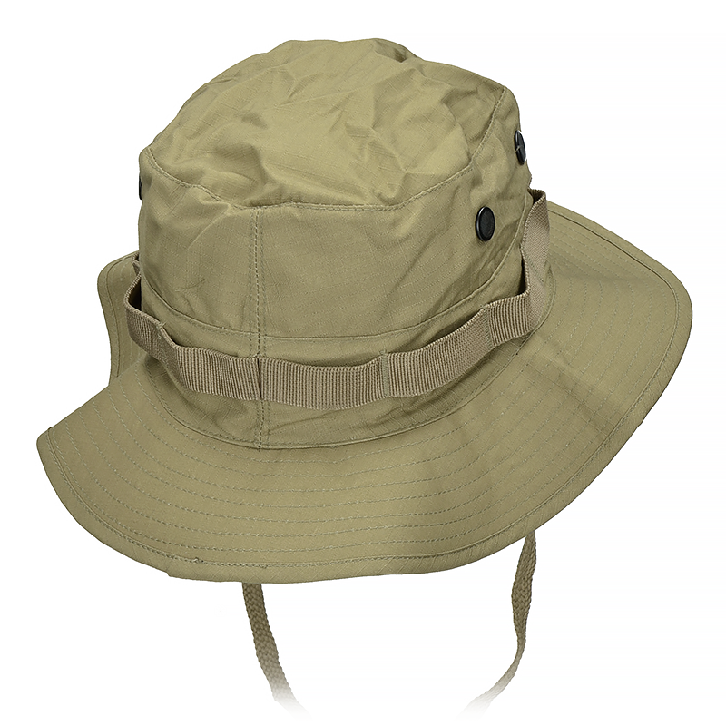 a690e866 Mil-Tec British Boonie Hat with Neck Flap Rip-Stop Coyote   Milworld