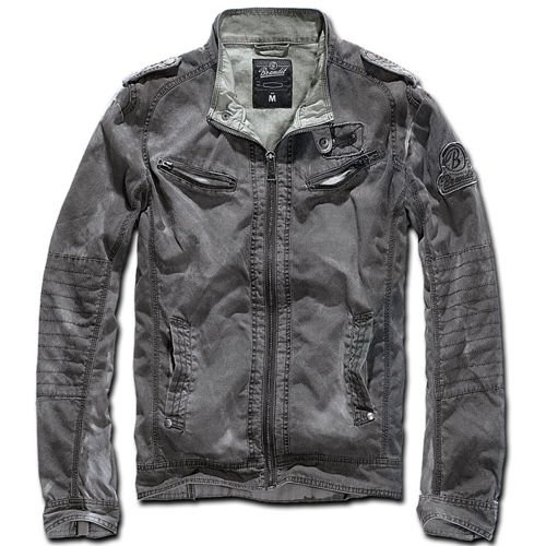 Brandit Cross Drake Biker Jacket Anthracite