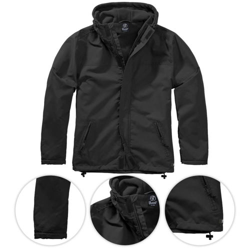 Brandit Jacket Frontzip Windbreaker Black