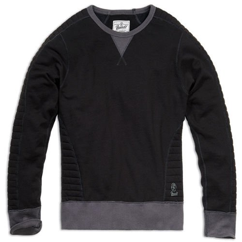 Brandit Liam Quilted Sweater Black