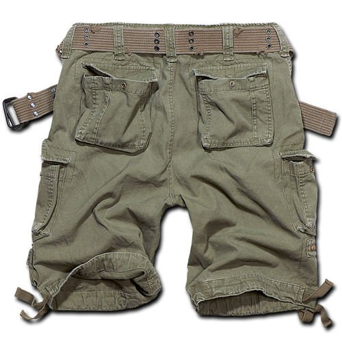Brandit M65 Savage Cargoshorts with Belt Olive Drab
