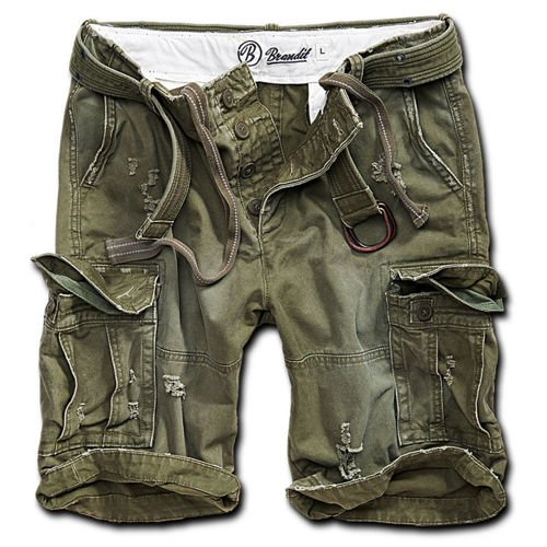 Brandit M65 Shell Valley Heavy Vintage Shorts Olive Drab