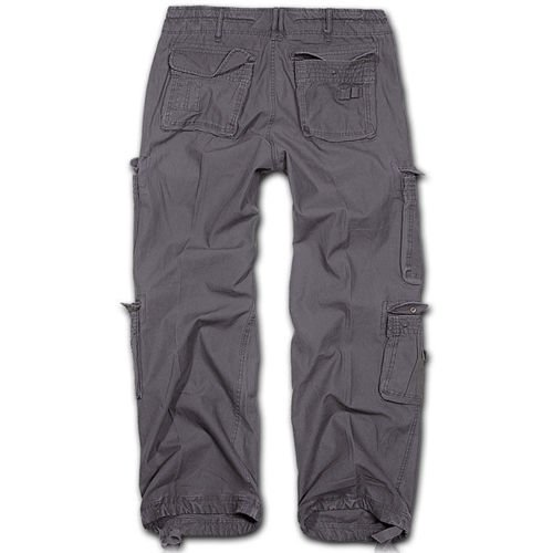 Brandit Pure Vintage Cargo Trousers Anthracite