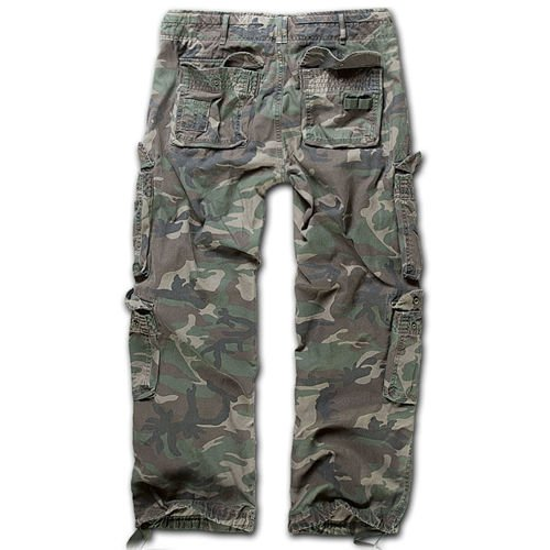 Brandit Pure Vintage Cargo Trousers Woodland