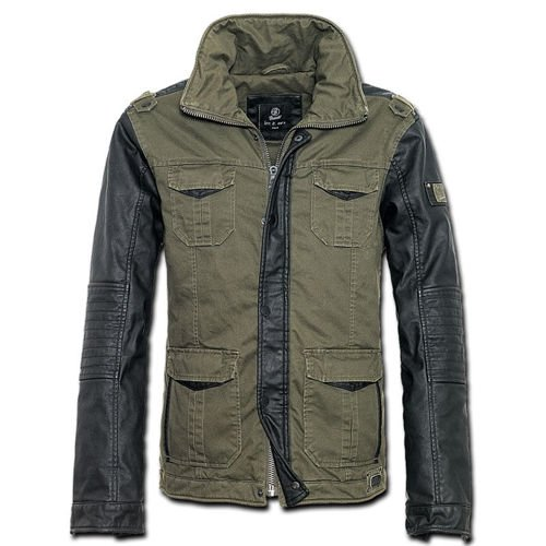 Brandit Ray Biker Jacket Olive Drab/Black
