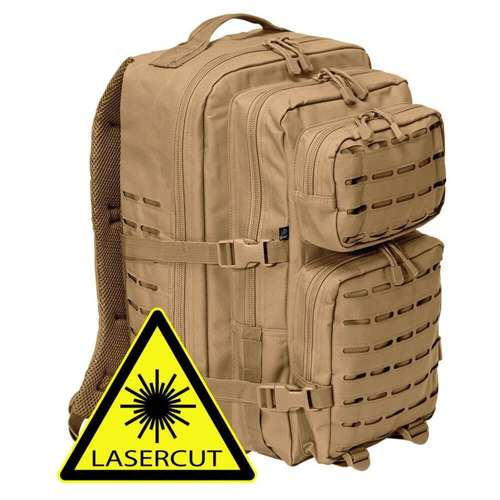Brandit US Cooper Laser Cut Tactical Backpack 40L Camel