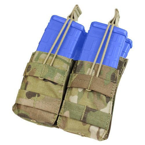 Condor Double Stacker Open-Top M4 Mag Pouch MultiCam