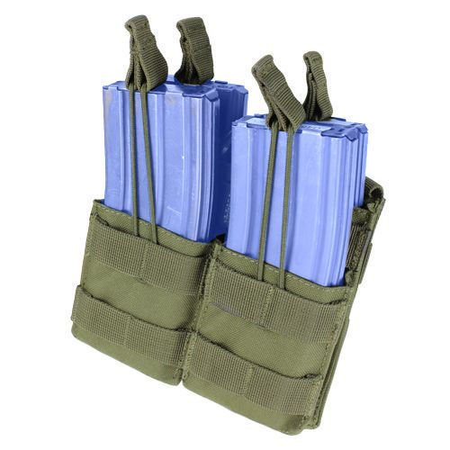 Condor Double Stacker Open-Top M4 Mag Pouch Olive