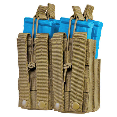 Condor Double Stacker Open-Top M4 Mag Pouch Coyote Brown