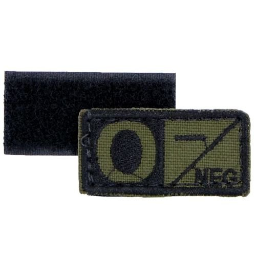 Condor Patch Blood Type 0 RH- Olive