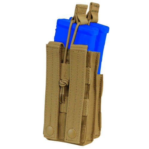Condor Single Stacker Open-Top M4 Mag Pouch Coyote Brown