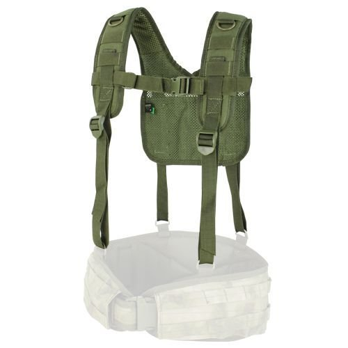 Condor Tactical Suspenders H-Harness Olive
