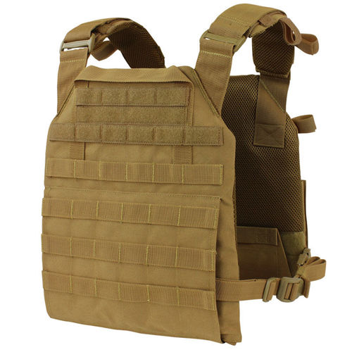 Condor Tactical Vest Vanquish Plate Carrier Coyote Brown