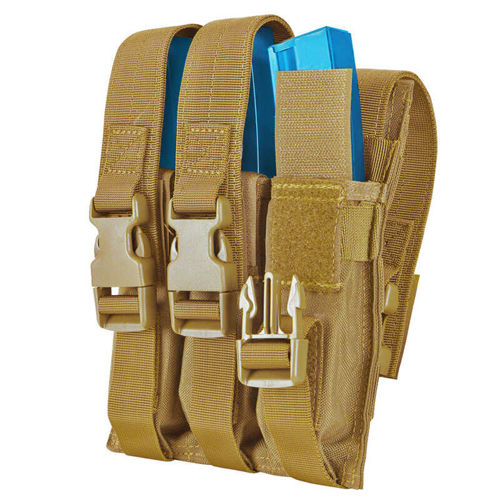 Condor Triple MP5 Mag Pouch Coyote Brown