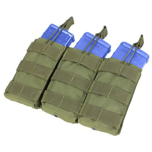 Condor Triple Open-Top M4/M16 Mag Pouch Olive