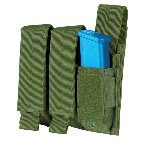 Condor Triple Pistol Mag Pouch Olive