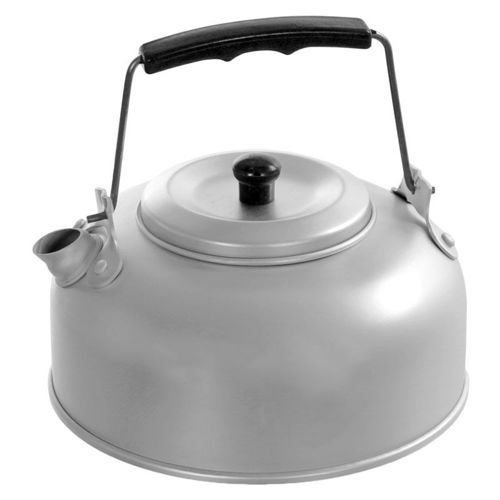 Fox Outdoor Kettle with Tea Strainer 1.1L Silver