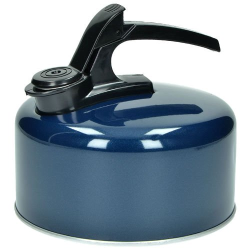 Highlander Enamel Kettle with Whistle 2L Blue