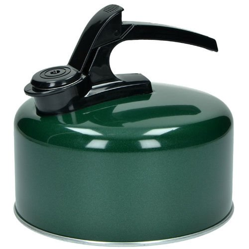 Highlander Enamel Kettle with Whistle 2L Green