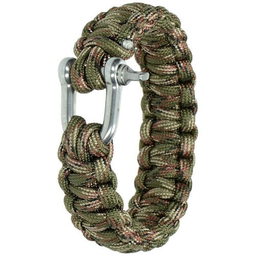 Highlander Paracord Bracelet with Shackle Camo