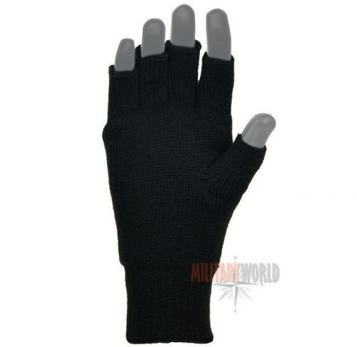 Highlander Thinsulate Fingerless Gloves Black
