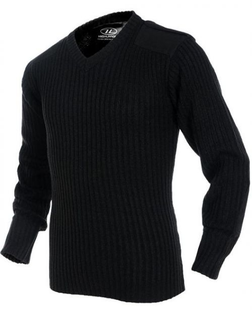 Highlander V-Neck Sweater Black